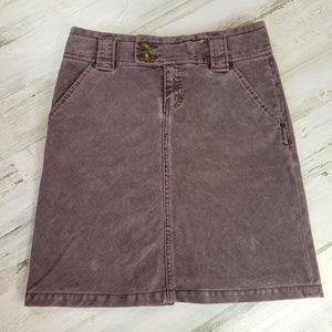 3/$15 Ga corduroy skirt A line short purple button
